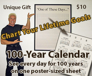 One of These Days Calendar-Poster shows every day for 100 years
